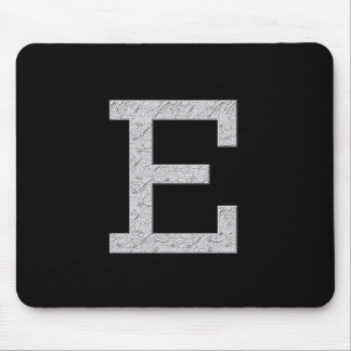 Monogram Letter E Mouse Pad