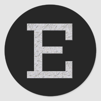 Monogram Letter E Sticker