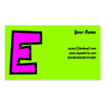 Monogram Letter E, Your Name, Business Cards