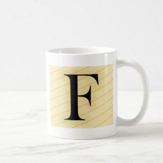 Monogram Letter - F (orange) Coffee Mug