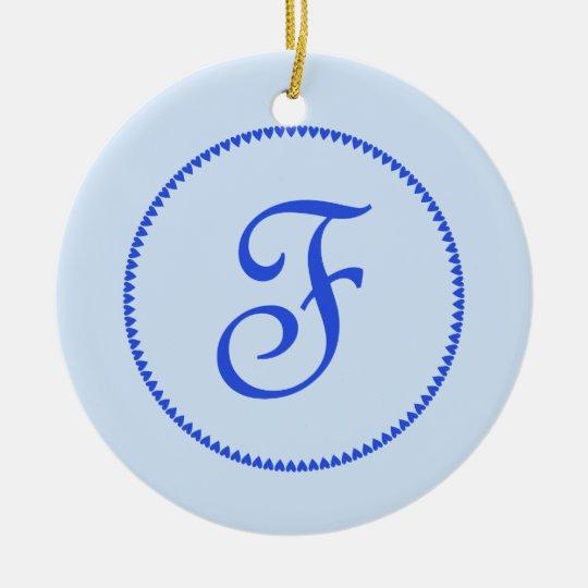 Monogram letter F ornament / pendant