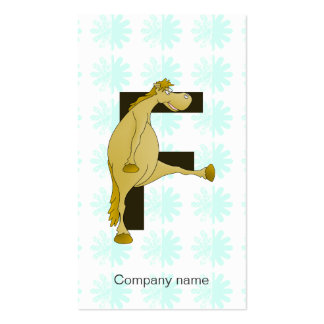 Monogram Letter F Pony Double-Sided Standard Business Cards (Pack Of 100)