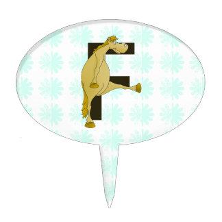Monogram Letter F Pony Cake Topper