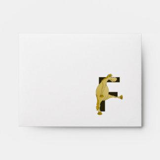 Monogram Letter F Pony Envelope