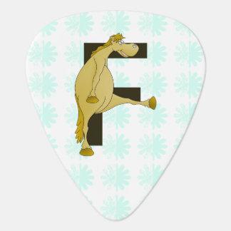 Monogram Letter F Pony Guitar Pick