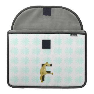 Monogram Letter F Pony MacBook Pro Sleeve
