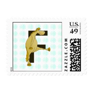 Monogram Letter F Pony Postage