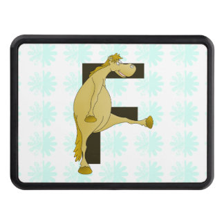Monogram Letter F Pony Tow Hitch Cover