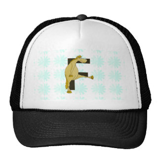 Monogram Letter F Pony Trucker Hat