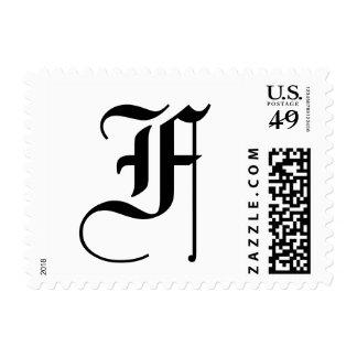 Monogram Letter F Stamp