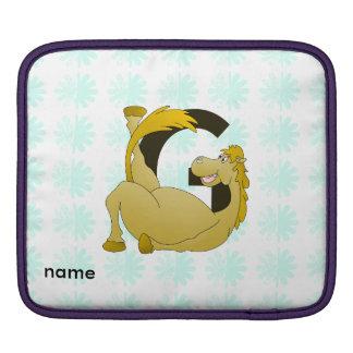 Monogram Letter G Pony iPad Sleeves