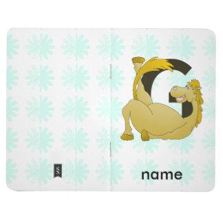 Monogram Letter G Pony Journal