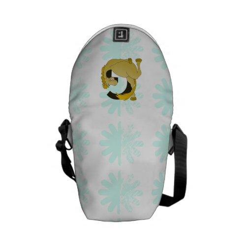 Monogram Letter G Pony Messenger Bags