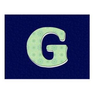 Monogram Letter G Postcard