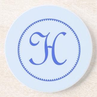 Monogram letter H coaster / drinks mat