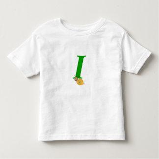 Monogram letter I brian the snail toddler t-shirt
