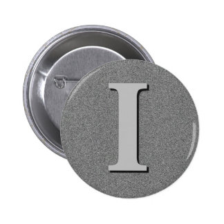 Monogram Letter I Button