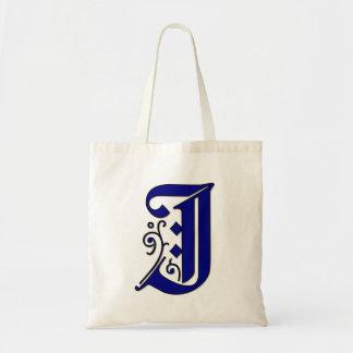 Monogram Letter I in Colchester Style Tote Bag