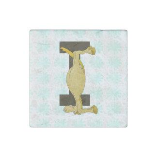 Monogram Letter I Pony Personalised Stone Magnet