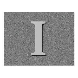 Monogram Letter I Postcard