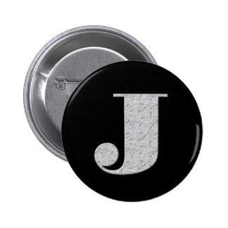 Monogram Letter J 2 Inch Round Button