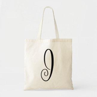 "Monogram Letter ""J"" Budget Tote-Canvas Tote Bag"