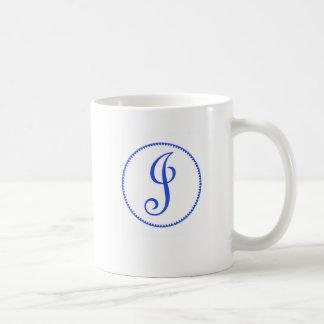 Monogram letter J mug