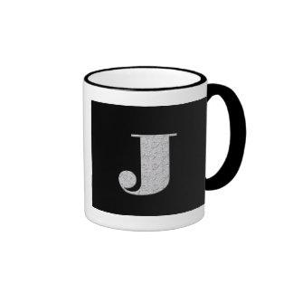 Monogram Letter J Ringer Mug
