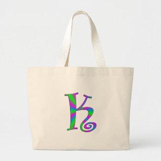Monogram Letter K Fun Bag