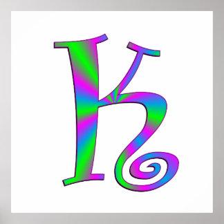 Monogram Letter K Fun Poster