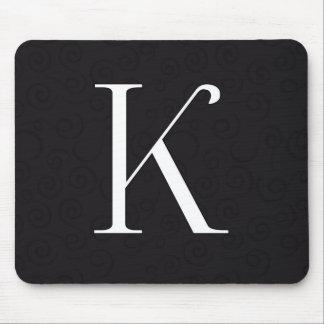 Monogram Letter K Mouse Pad