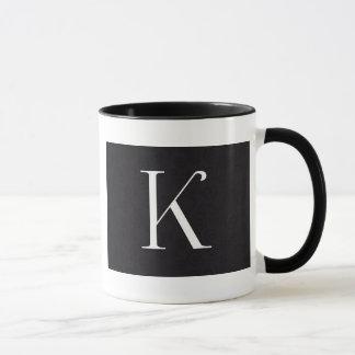 monogram letter k mug