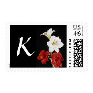 Monogram Letter K Postage Stamps