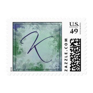 Monogram - Letter K postage