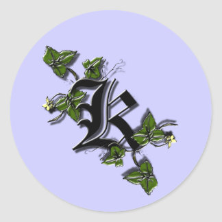 Monogram Letter K sticker