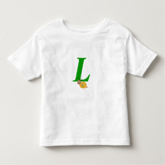 Monogram letter L brian the snail toddler t-shirt