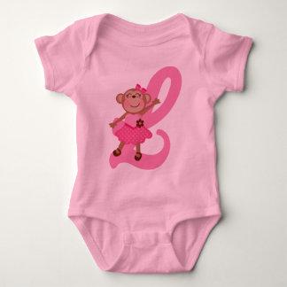 Monogram Letter L Monkey Alphabet Shirts