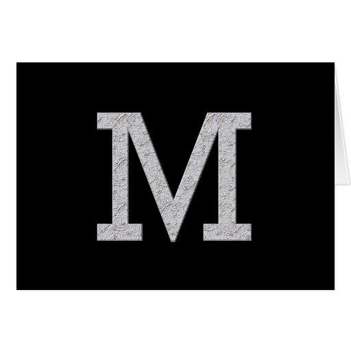 Monogram Letter M Cards