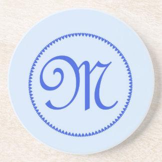 Monogram letter M coaster / drinks mat