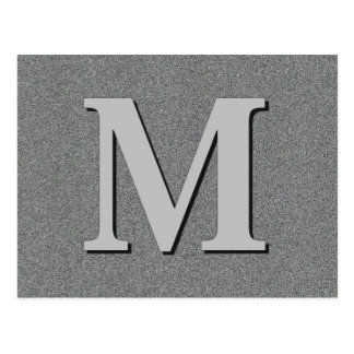 Monogram Letter M Postcard
