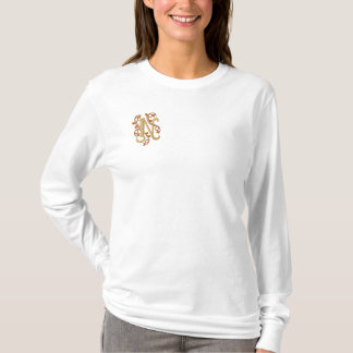 Monogram Letter N Embroidered T-shirt