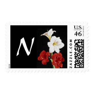 Monogram Letter N Postage