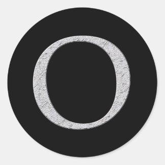 Monogram Letter O Classic Round Sticker