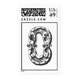 Monogram Letter O in Black Postage