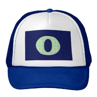 Monogram Letter O Trucker Hat