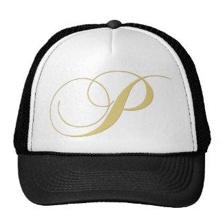 Monogram Letter P Golden Single Trucker Hat