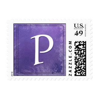Monogram - Letter P postage