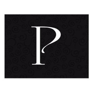 Monogram Letter P Postcard