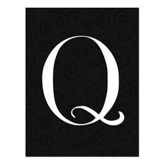 Monogram Letter Q Postcard
