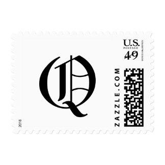 Monogram Letter Q Stamp